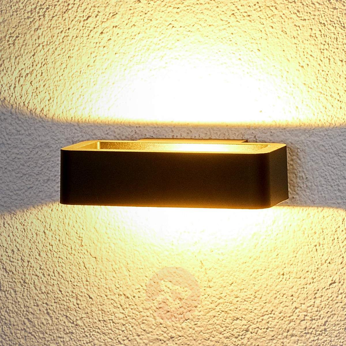 Julian LED outdoor wall light in black-9972050-30 | Lights ...