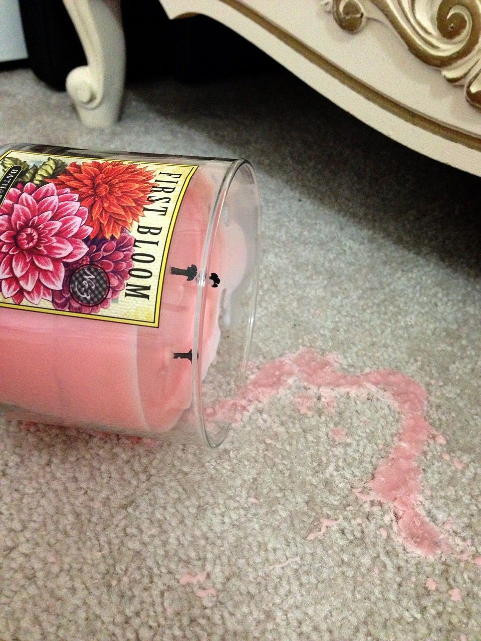 How to clean candle wax out of the carpet