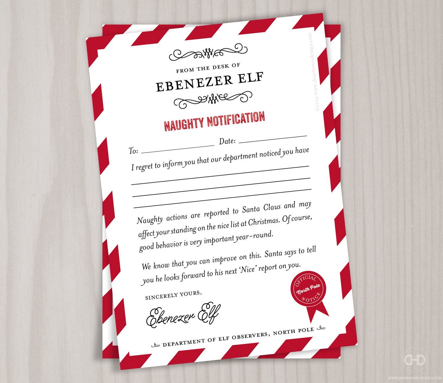 Elf on the shelf funny naughty letters first letter google search naughty list note from the north pole santas elves stationery christmas letter from santa notes to kids children printable or printed spiritdancerdesigns Images