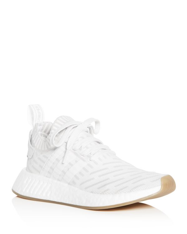 Adidas Women's Nmd R2 Knit Lace Up Sneakers | Knit shoes