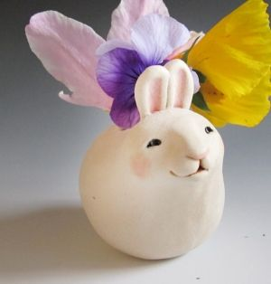 Sweet little bunny vase