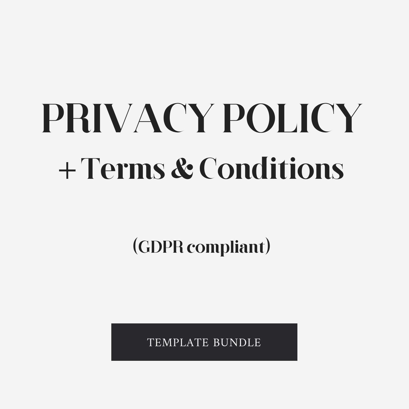 Privacy Policy Terms And Conditions Agreement Gdpr Privacy Policy Marketing Advertising Templates