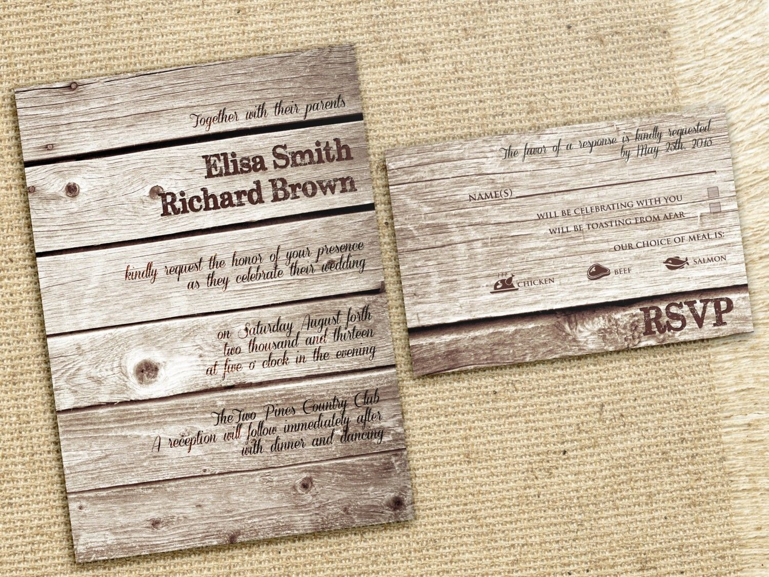 Rustic Wedding Invitations Cheap | Save the Dates & Invites ...