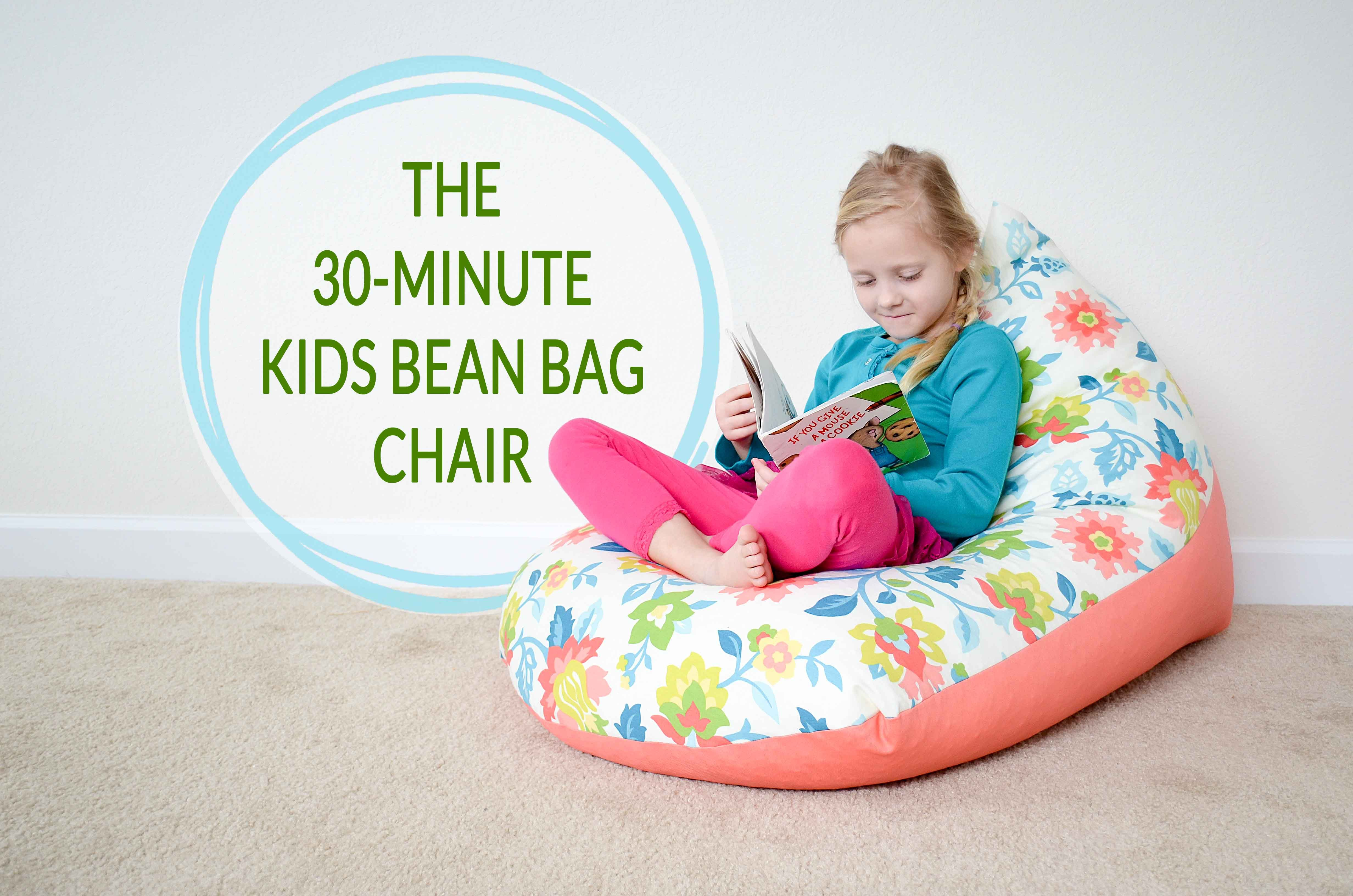 Peachy Diy Sew A Kids Bean Bag Chair In 30 Minutes Floor Pillows Caraccident5 Cool Chair Designs And Ideas Caraccident5Info