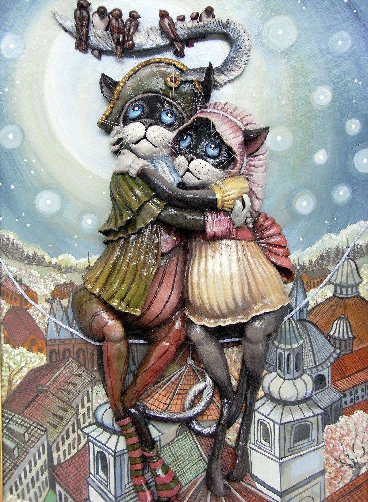 Снегу открытки, картинки для декупажа смешные кошки