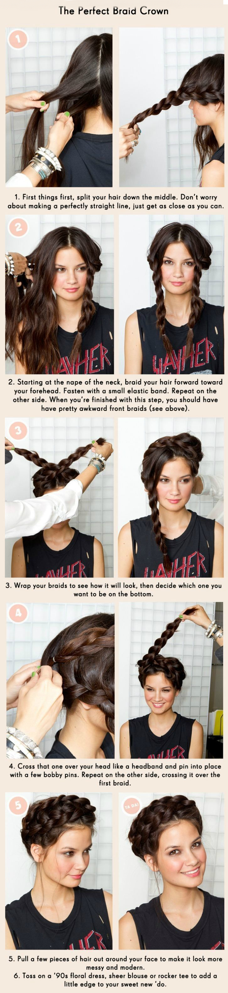 How to create a perfect braid crown hairstyle makemeover
