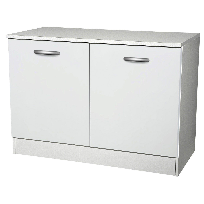 impressionnant meuble bas de cuisine blanc pas cher (avec images