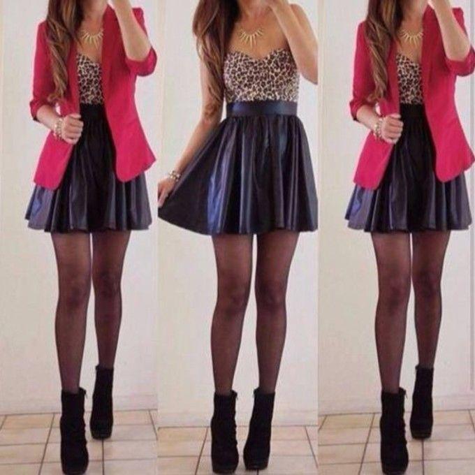 ub7oma-l-c680x680-blouse-shirt-skirt-leather-fancy-black-jacket ...