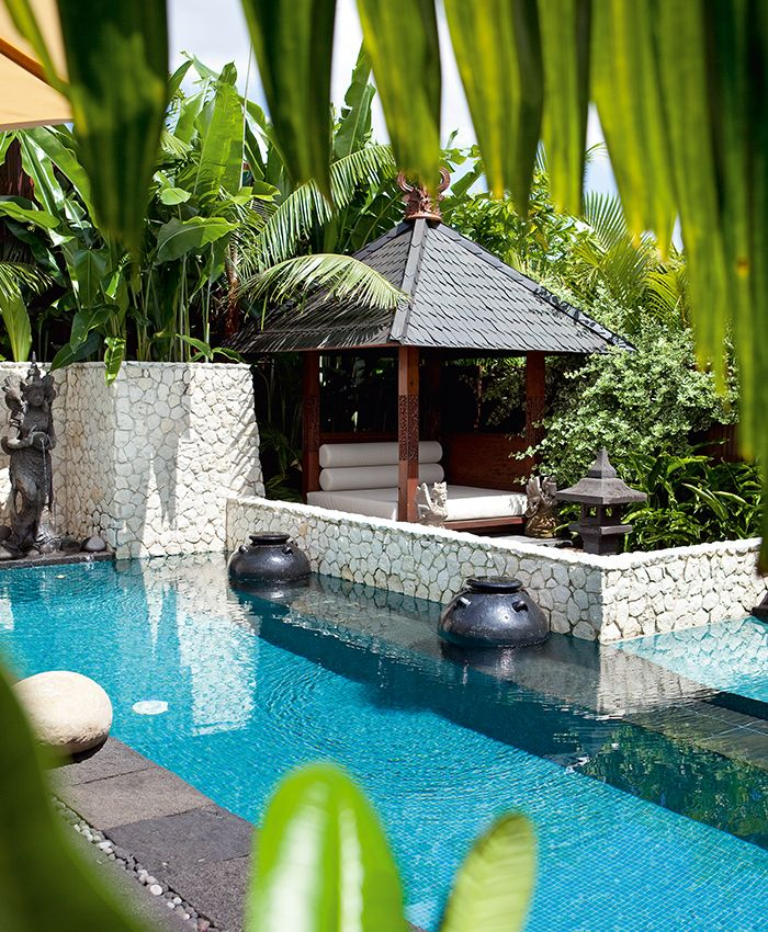 Pool Houses, Tropical Pool, Bali Huts
