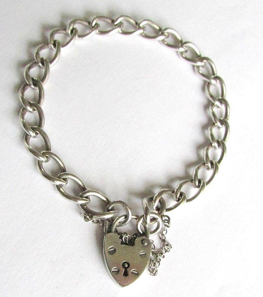 Wedding decorations vintage october 2018 Vintage sterling silver charm bracelet heart lock clasp  grams