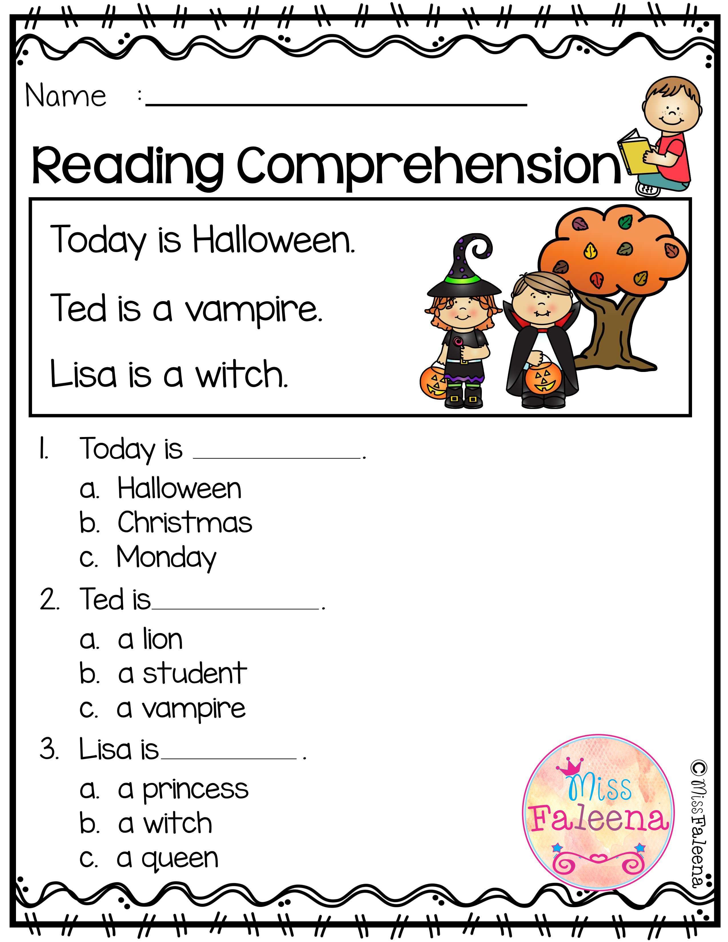 October Reading Comprehension Is Suitable For Kindergarten Students Or Beginning Reading Comprehension Preschool Classroom Organization Preschool Lesson Plans [ 3300 x 2550 Pixel ]