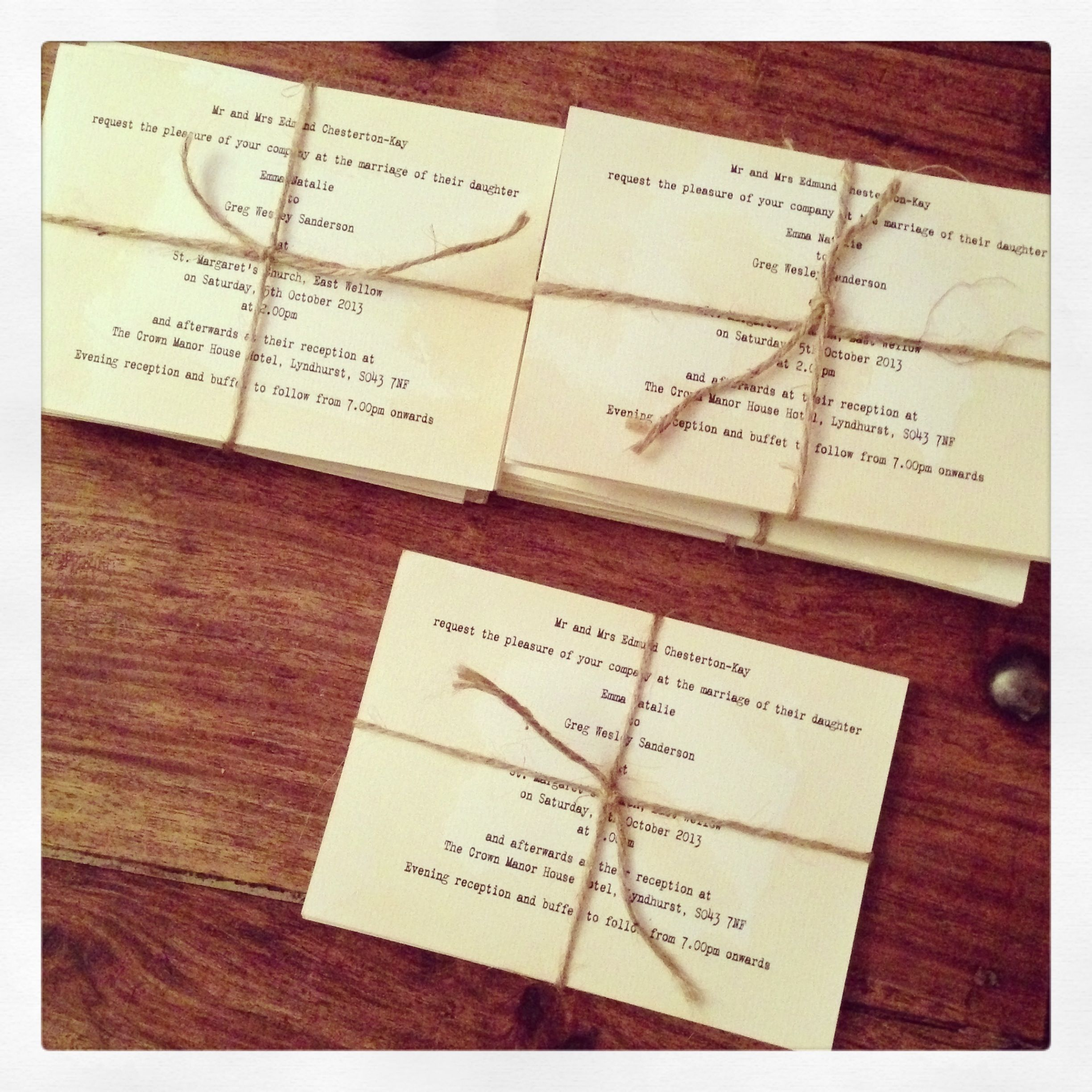 Famous Wedding Invitation Twine Collection - Invitations and ...
