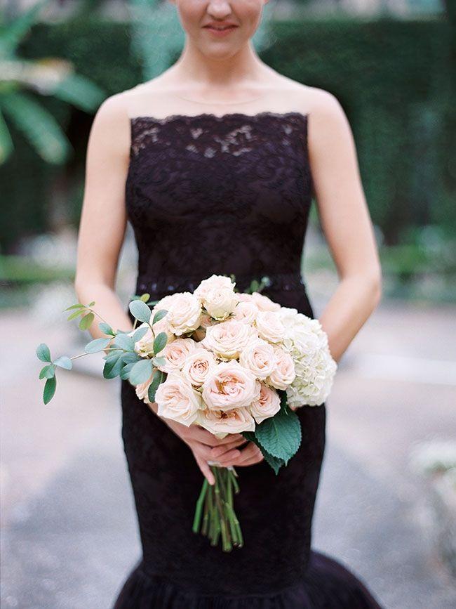 Beautiful Blush Bouquet Julie Cate Photography Gorgeous Black