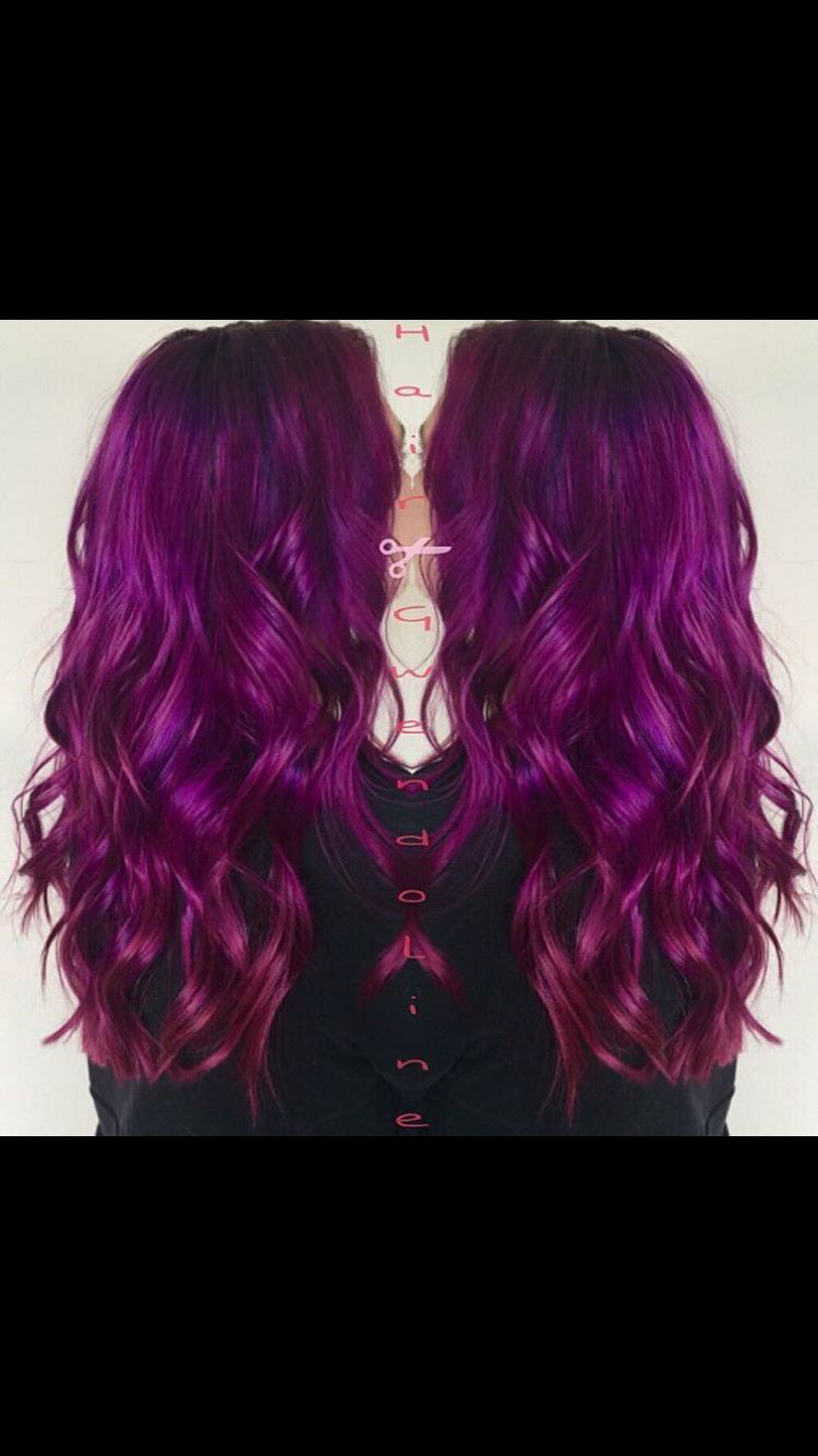 Arctic fox purple rain at the root melted into a combo of
