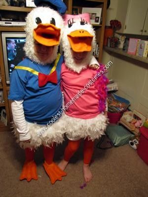 Coolest Homemade Donald Duck and Daisy Duck Couple Costume Idea & Coolest Homemade Donald Duck and Daisy Duck Couple Costume Idea ...