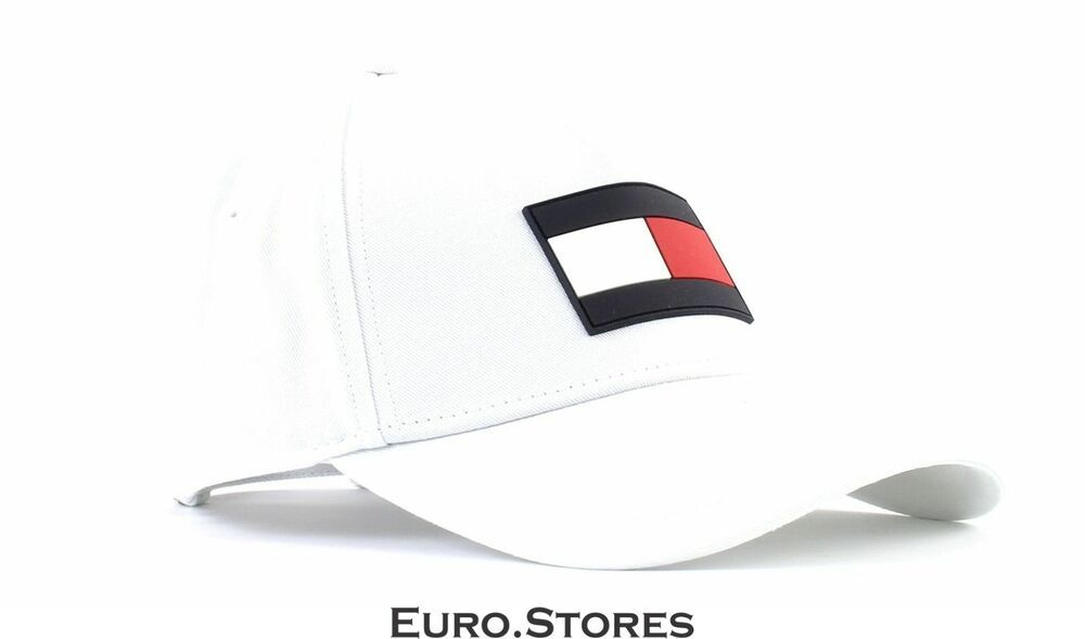 Details About Tommy Hilfiger Th Flag Cap Cap Accessory Bright White White Blue New Tommy Hilfiger Mens Dad Hats Tommy