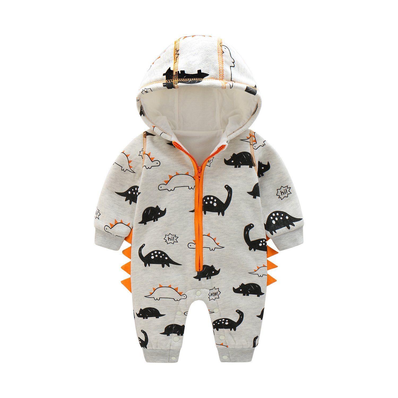 be51d12cf Newborn Baby Boy Baby Girl Unisex Clothes Long Sleeve Dinosaur ...