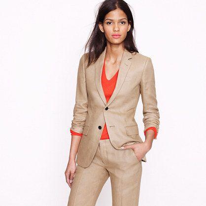Ludlow jacket in Irish linen | Office Wear | Pinterest | Jcrew ...