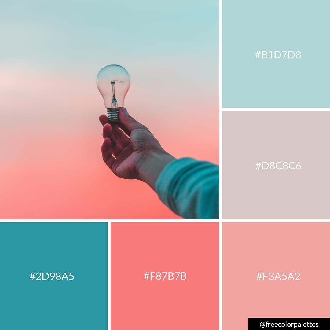 Pastel Skies Pink And Blue Ideas Color Palette Inspiration