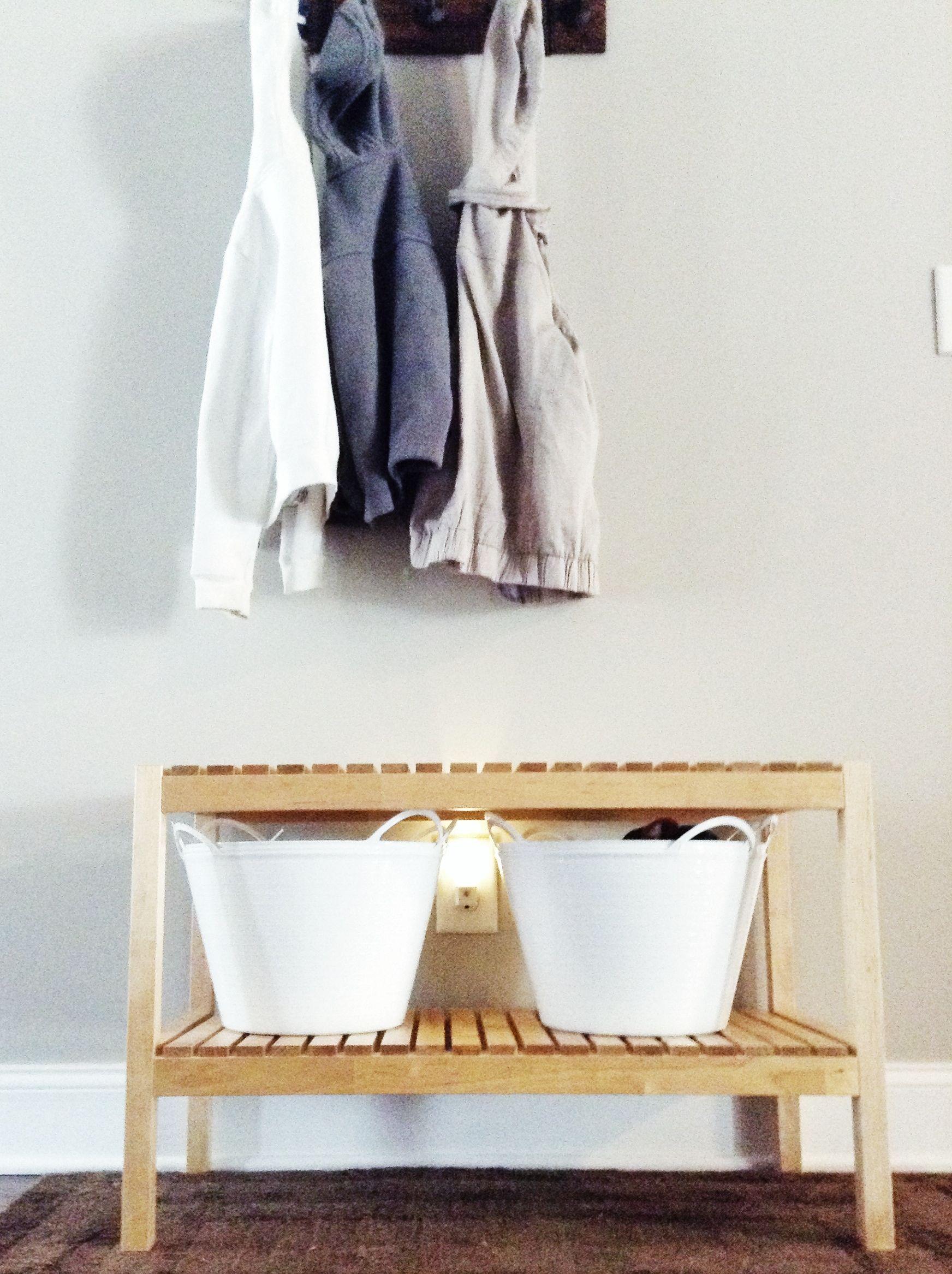 Foyer Minimalist Shoes : Minimalist entryway bench for under ikea molger