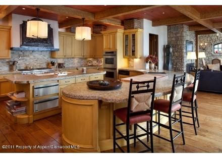 This beautiful kitchen is one of the many gems that come with this grand European country home.