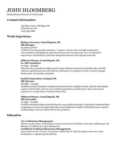 Talented Google Docs Resume Template