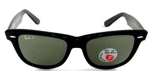 15d5252538 New Ray Ban RB2140 901 58 Wayfarer Black Frame Green Lens 54mm Polarized  Sunglasses by