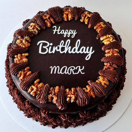 Create Chocolate Walnut Birthday Cake With Your Name Cakes and