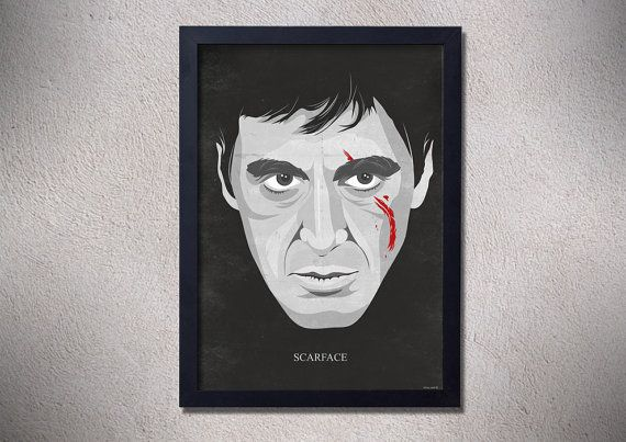 Scarface poster Al Pacino movie poser art digital by TotalLost ...