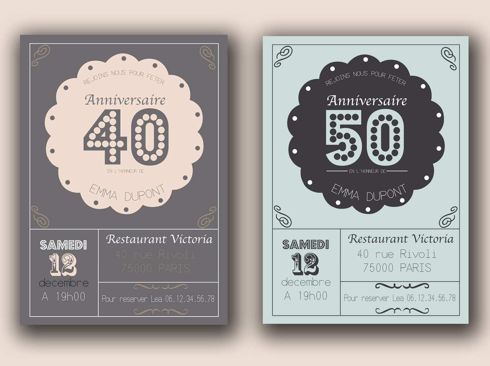 Lovely Faire Part Anniversaire 40 Ans | Carte invitation anniversaire gratuite, Carte invitation ...