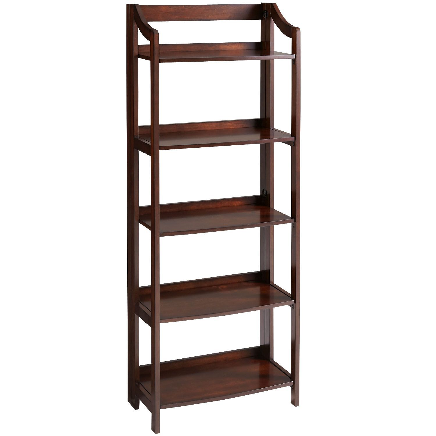 Clifton tobacco brown tall folding shelf products