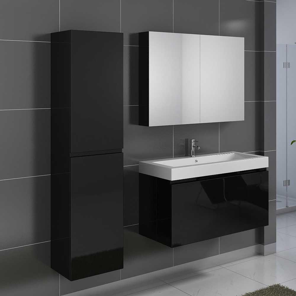 Badezimmermöbel Set In Hochglanz Schwarz Modern (3 Teilig) Jetzt Bestellen  Unter: Https