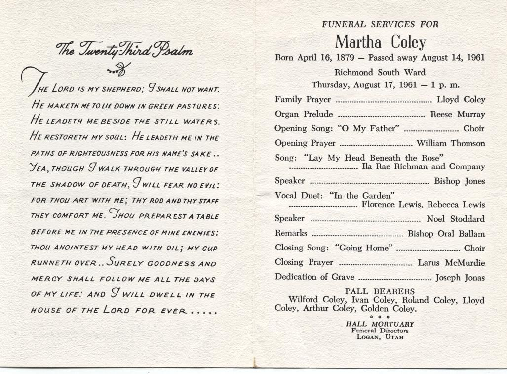 Catholic Funeral Readings Memorial Service Program Typography Lettering Cards Resignation