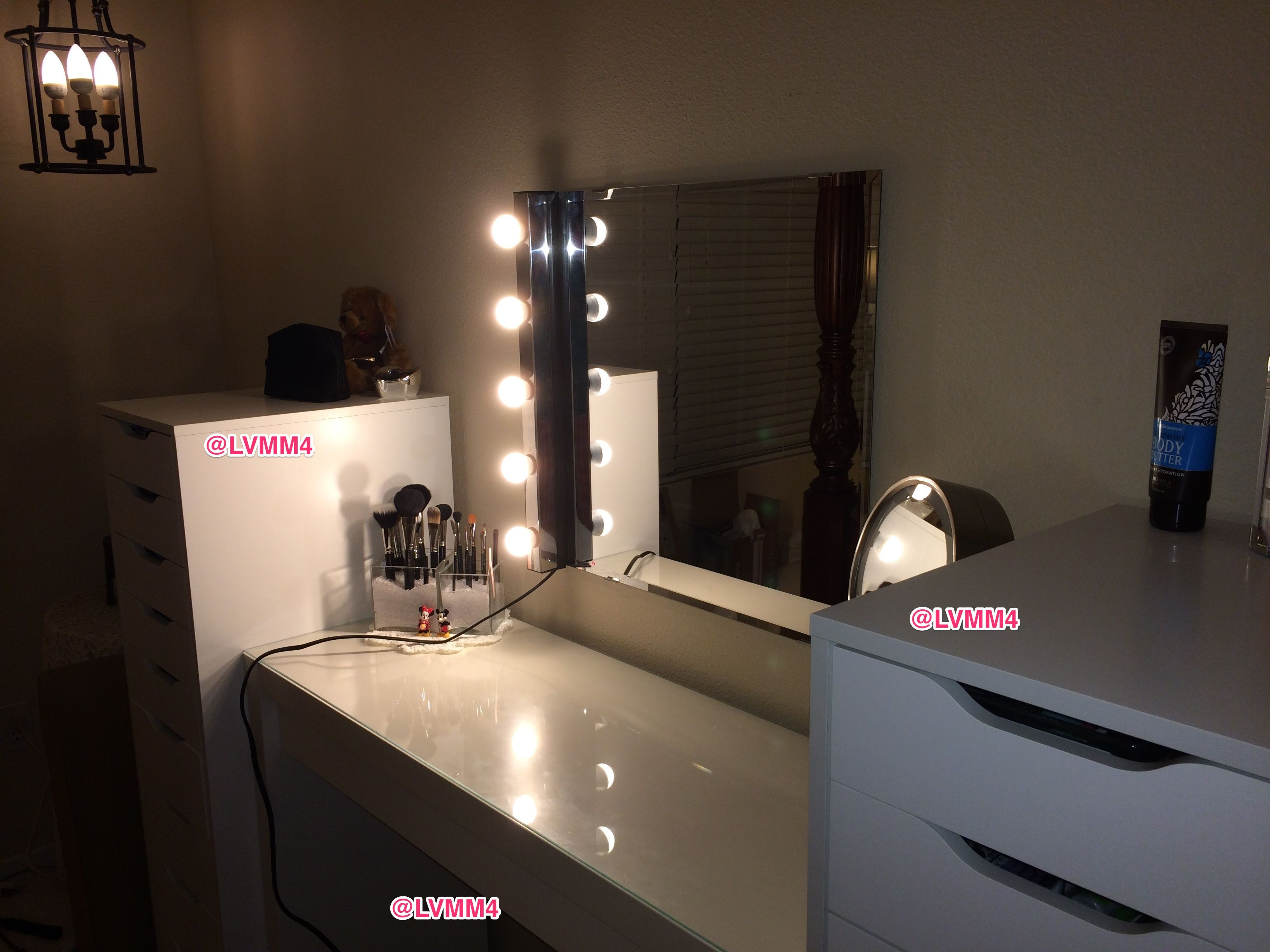 My IKEA Vanity. Mirror is up!! YAY! Just need right side ...