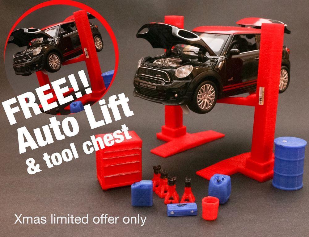 Mini Cooper Paceman Diecast Model 128Diorama Garage Accessory