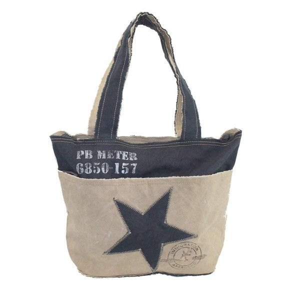 22b3e5cb029 Sunsa Shopper mit Stern | Taschen & Accecoires fair + nachhaltig ...