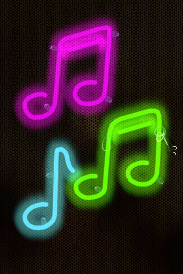Neon Music Symbols. music musicnotes musicsymbols http