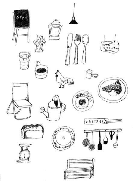 w.drawing : シバタケイコ イラストレーション