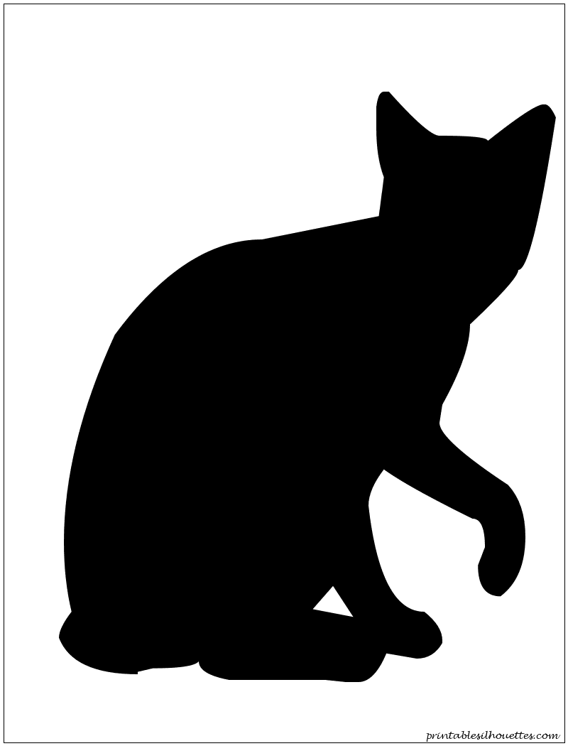 Cat12 Silhouette | anything Printable, etc... | Pinterest ...