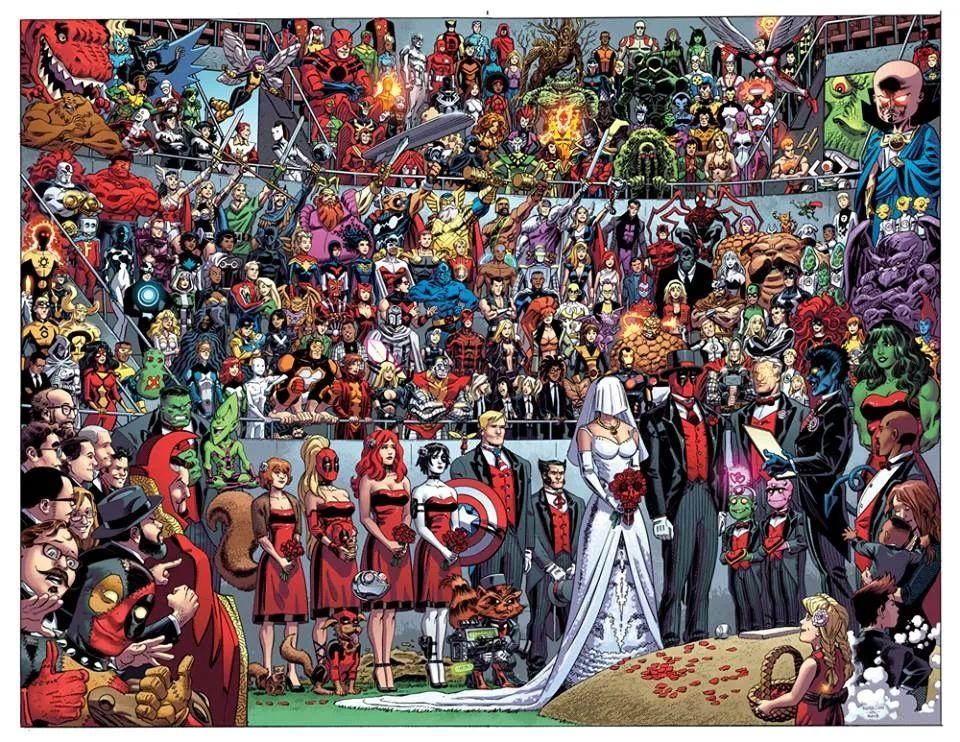 Deadpool Wedding Marvel Wedding Deadpool Marvel