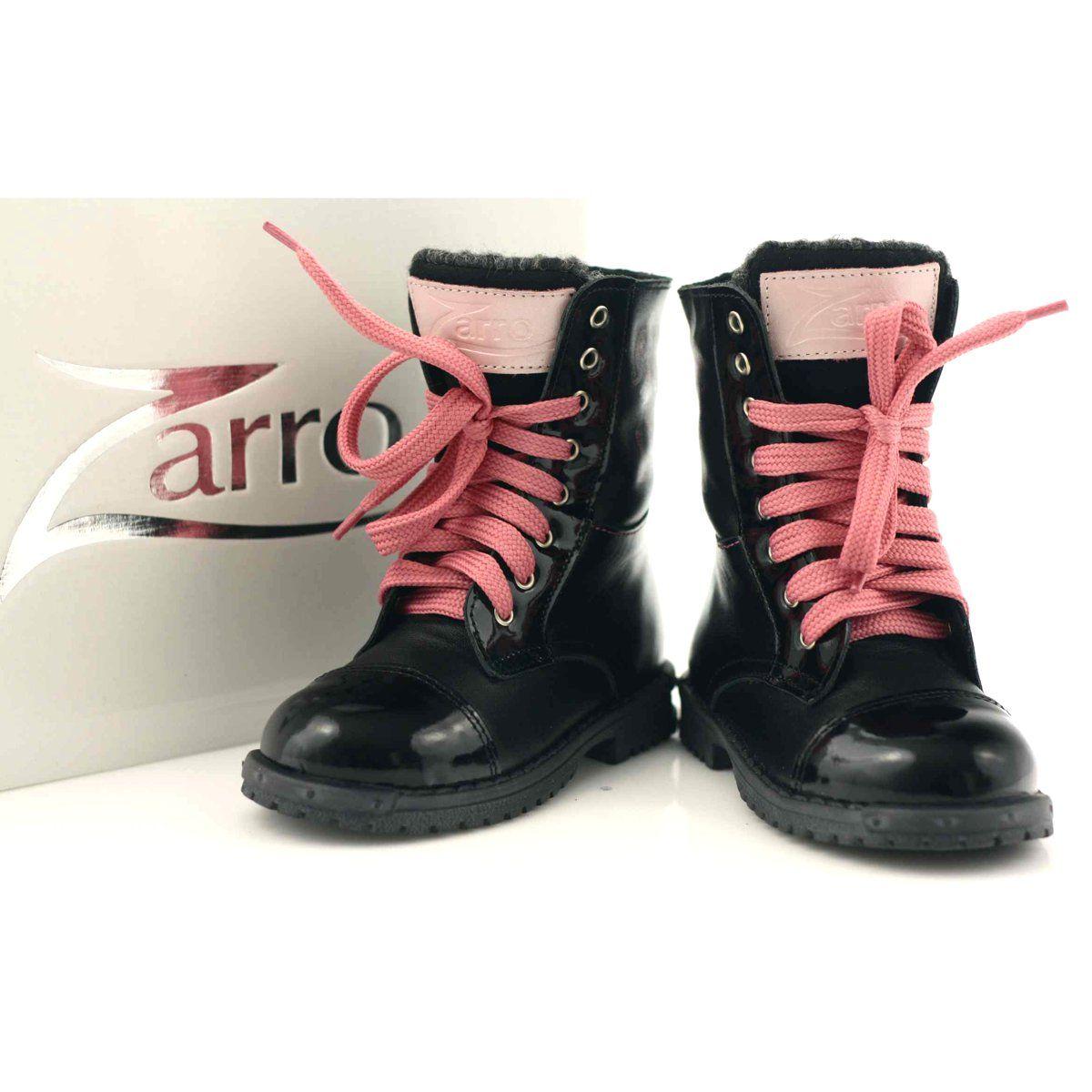 Ren But Trzewiki Buty Dzieciece Zarro 38 01 Czarne Rozowe Boots Winter Boot Shoes