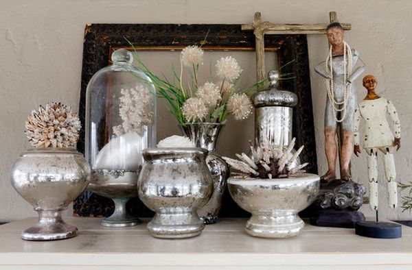 Display Your Collection Of Mercury Gl Vases On The Mantel