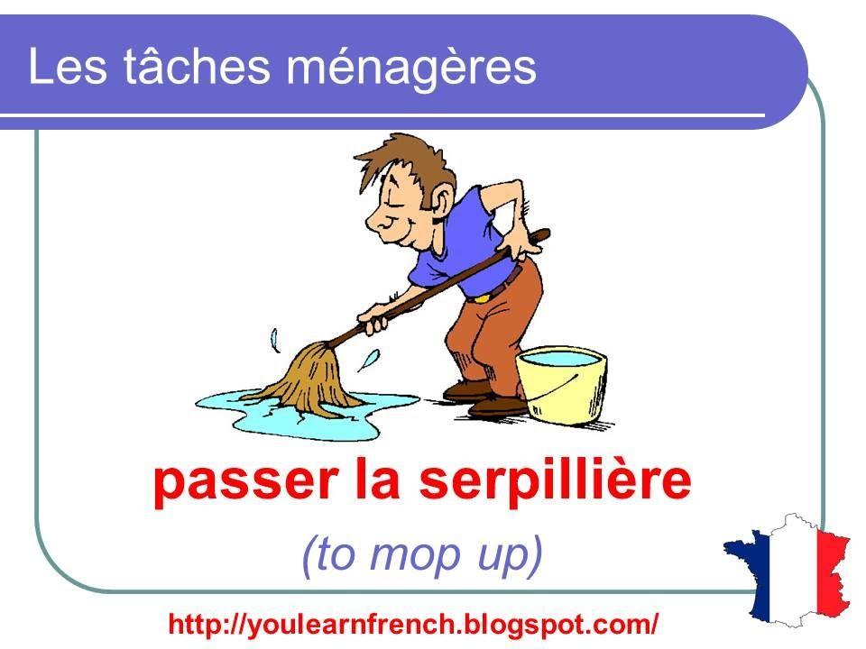 French Lesson 91 - Household chores - Les tâches ménagères - les taches menageres
