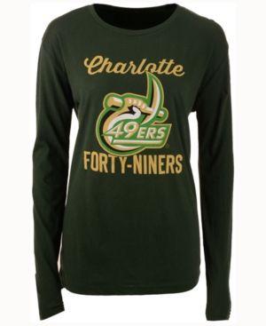 Royce Apparel Inc Women's Charlotte 49ers Noelle Long-Sleeve T-Shirt - Green L