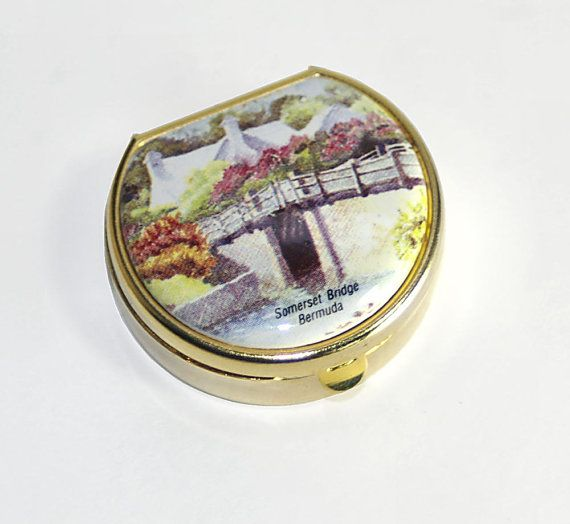Bermuda Souvenir Pill Box Decorative Pill Box Case Purse Pill Box Gorgeous Decorative Pill Boxes