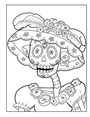 Day Of The Dead Dia De Los Muertos Sugar Skull Coloring Sheets