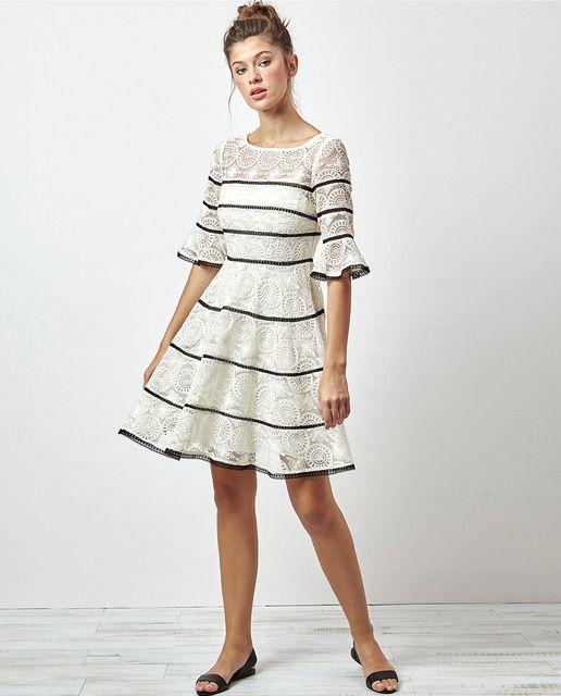 Vestidos de mujer manga francesa