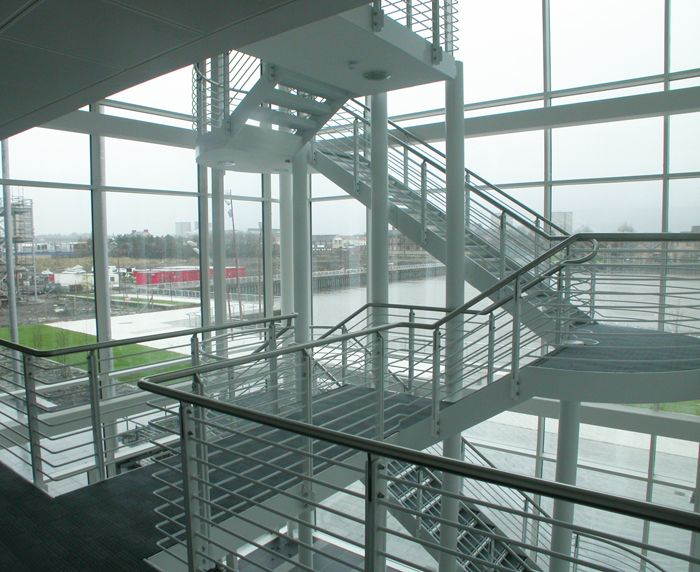 Best This Staircase Features Mild Steel Structural Stringers 400 x 300