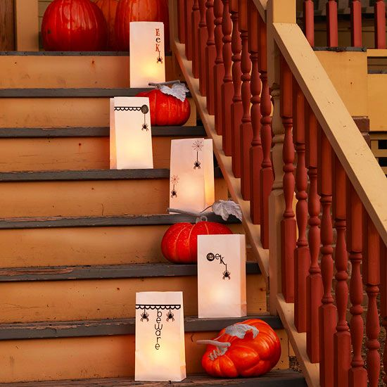 Eerie Outdoor Halloween Decorations Easy light, Front porches and