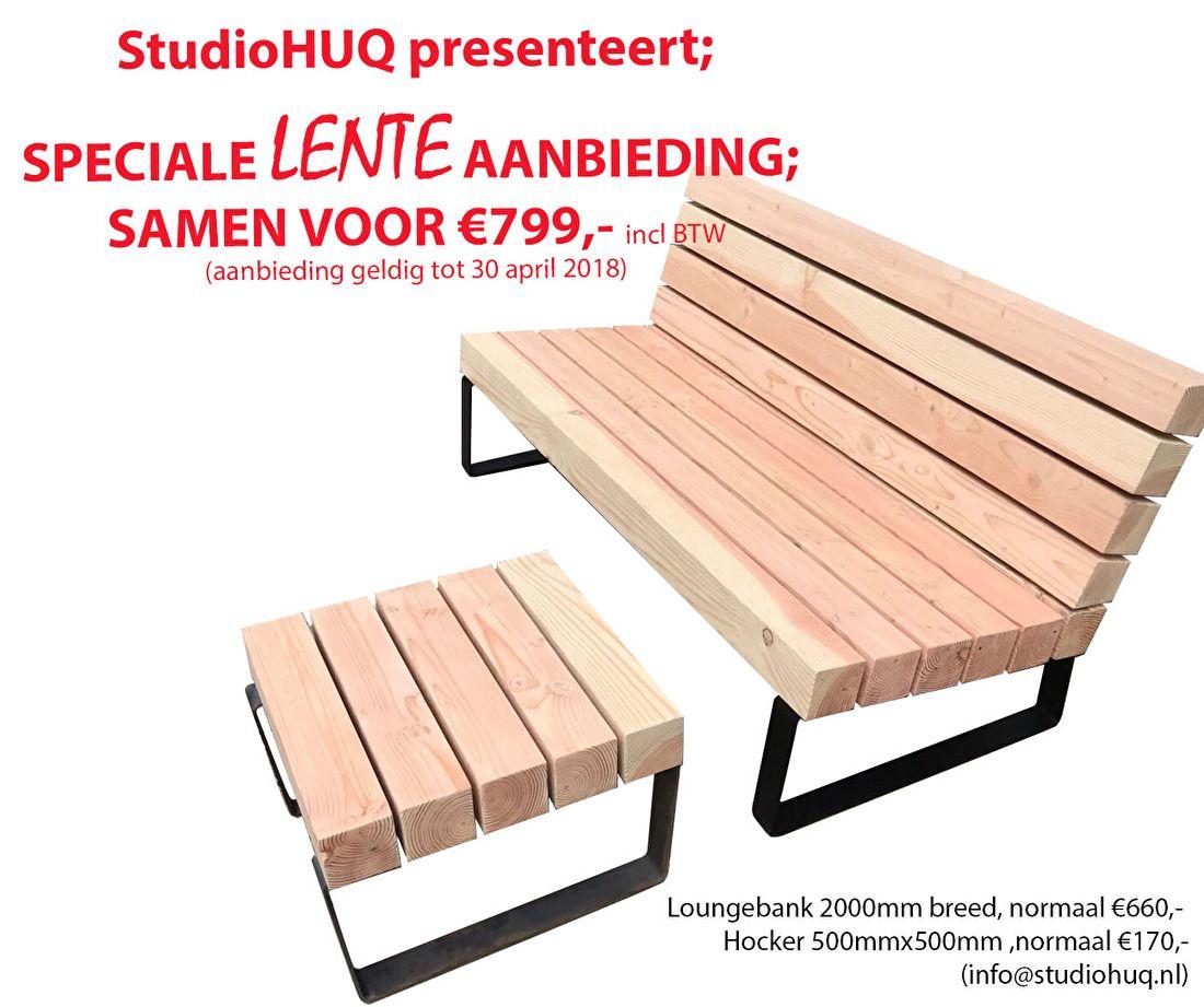 Mooie Houten Tuinbank.Tuinbank Houten Loungebank Mooi Design Huq Douglas Hout